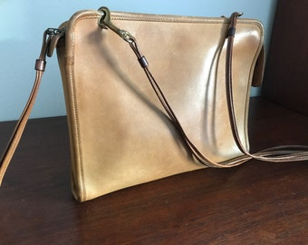 Coach Early Rare Paperclip Closure Comvertible  Clutch!