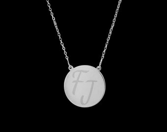 Personalized Necklace - Engraved Necklace - Custom Necklace - Personalized Initials Necklace - Personalize Jewelry - Custom Gift - BFF Gift