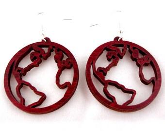 Wooden Hook Earrings