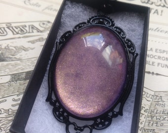 Full Moon Gothic Necklace - Black gift box included