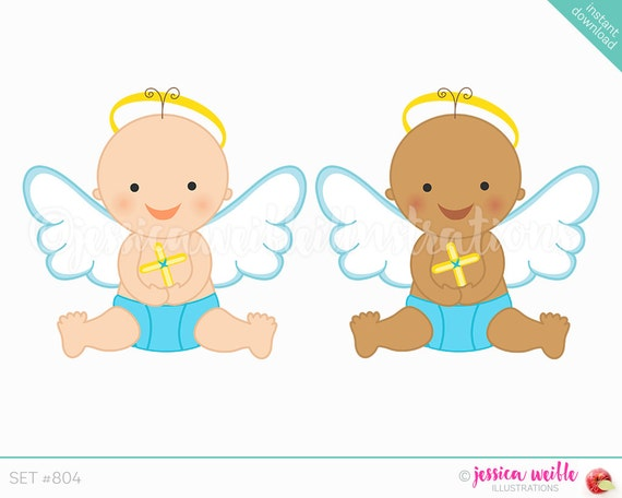 instant download baby boy angel cute digital clipart cute rh etsy com baby angel clipart images baby angel clipart png