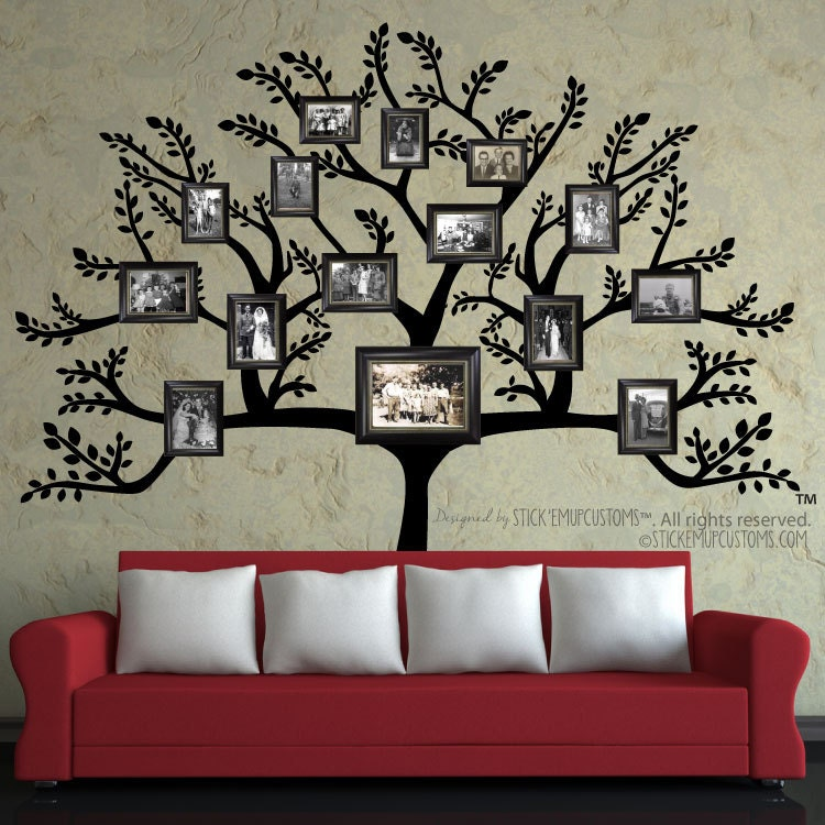 Tree Wall Decal FREE SHIPPING Large Family Tree Branch