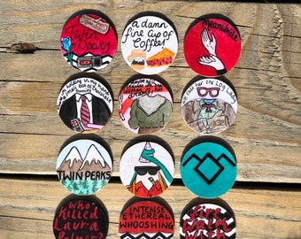 Twin Peaks Pin Badge Collection