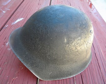 Swiss Army Military Helmet with original Liner- Antique  Vintage