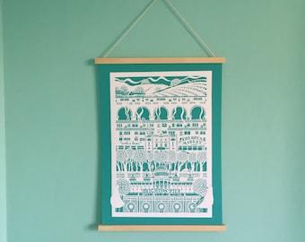 Brighton Print, Brighton, digital print, Brighton papercut, brighton pier, brighton pavilion, royal pavillion