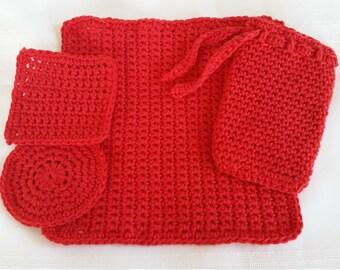 cotton crochet wash cloth, crochet soap saver,cotton crochet face scrubbies, makeup remover,face exfoliator,soap holder,cotton facial rounds