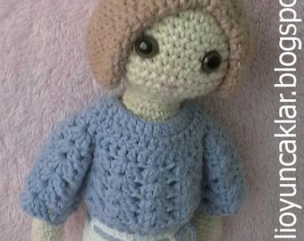 Amigurumi 12 inc Doll Pattern