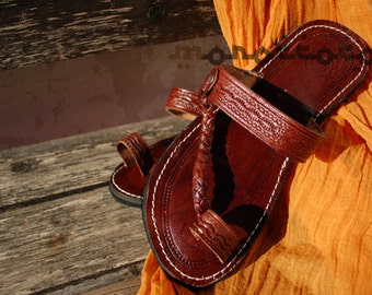 Brown Sandals, Woman Sandals, Moroccan Sandals, Leather Sandals, Handmade Sandals, Cute LeatherSandals, Summer Sandals, Traditional Sandals
