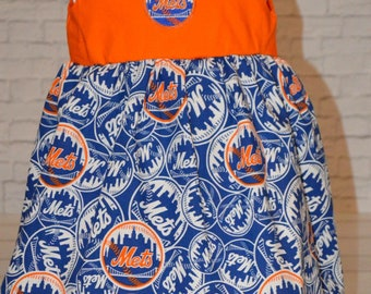 Girls New York Mets baseball dress