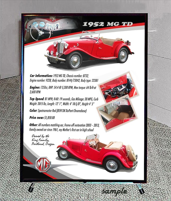 CAR SHOW Display 20x28 Sign Reader Board Custom Art