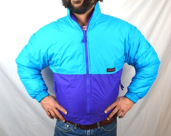 Vintage 80s Edelweiss Neon Puffy Ski Jacket