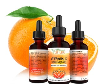 Vitamin C Serum Anti Aging Serum Face Serum Hyaluronic Acid Skin Care Facial Serum Natural Skin Care Anti-Aging Anti Wrinkle Serum