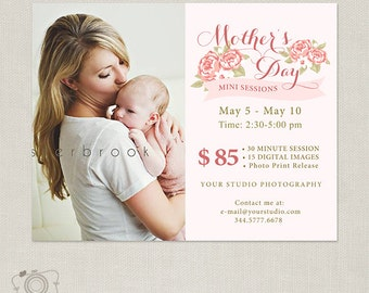 Mothers Day Mini Session - Mommy & Me - Photography Marketing Template 080 - C266, INSTANT DOWNLOAD