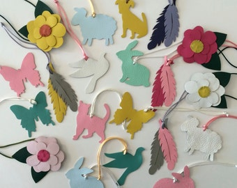 Spring Collection Assorted Bagcharms with Silk or Nylon Cord