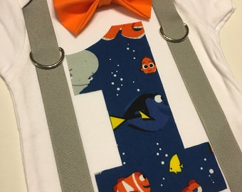 Finding Dory First Birthday Onesie