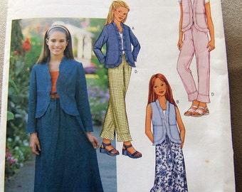 Butterick 3416  uncut size 7 -  16 girls pattern