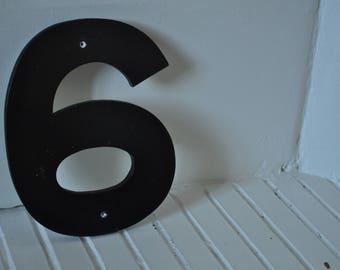 """Vintage sign number """"6"""""""