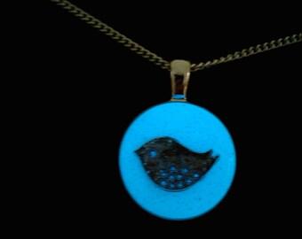 Glowing Bird Necklace