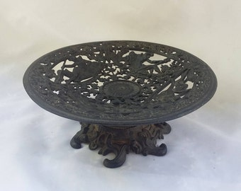 Vintage Iron Decorative Metal Pedestal