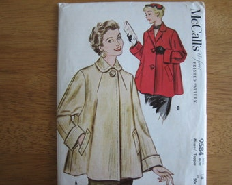 McCall's Pattern 9534 Misses' Topper Coat/Jacket       1953     Mostly Uncut