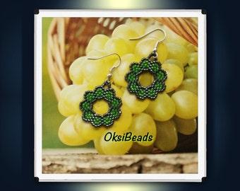 Perlenohrhrringe, delica beads