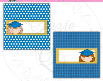 Girl Graduate Candy Bar Wrappers - Digital Printable - Immediate Download