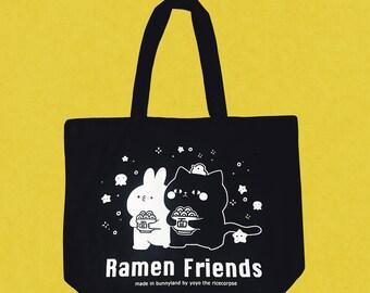 Let's ramen tote bag