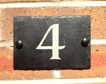 Slate House Sign Door Number House Name Sign Plaque Address Any Name 1 - 9999 various sizes  Largest Size A3 - 40x30cms FREE POSTAGE
