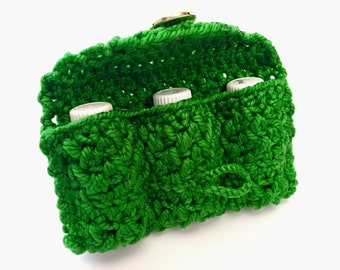 Essential Oil Bag, Essential Oil Travel Bag, Oil Carrier In Green, Happy Green Color, Essential Oil Storage, Holistic Case For Oils, Fragran