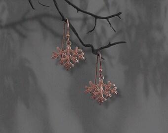 Australian Flannel Flower Leaf Earrings,Fine Silver,Handmade,Wildflower Earrings,Flower Jewellery,Gift for Her,Australian Earrings,Botanical