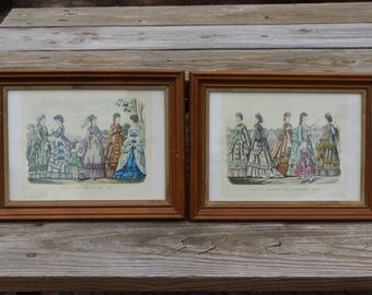 Godey's Fashions For May & September 1870, Framed Prints