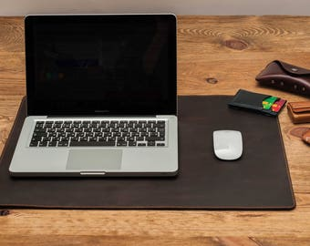 Desk cover leather desk pad leather mouse pad leather desk mat desk pad mouse pad leather mouse pad desk mat gift for him leather pad