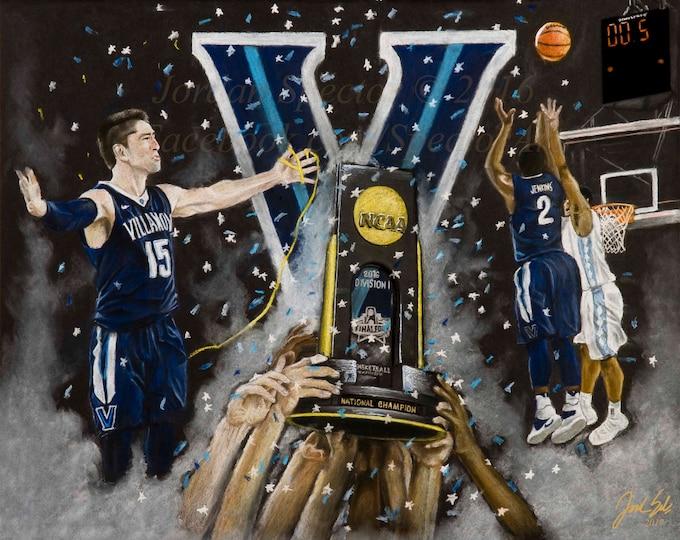 Villanova Mens Basketball 2016 National Champions - Fine Art Print