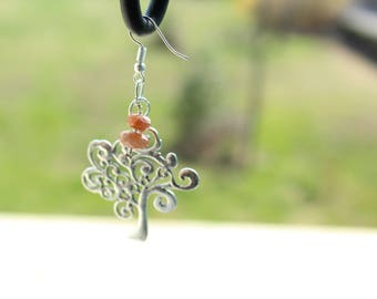 Sunstone earrings symbolizes: life force and the tree of life