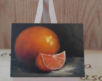 """Bright, Sunny, Oranges II, Co-Worker Gift, 3"""" X 4"""""""