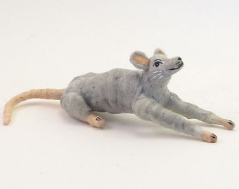 Spun Cotton Vintage Inspired Mouse Ornament/Figure (MADE TO ORDER)