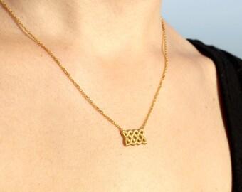Dainty Celtic Knot Necklace - Gold Celtic Necklace - Sterling Silver Celtic Knot Necklace - Tiny Necklace Gift