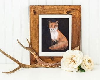 The Kirtlington Vixen- Archival Quality Mounted and Signed Fine Art Print