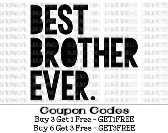 Big Brother svg Best Brother Ever Big Bro svg Sibling svg PNG Files Svg files for Cricut Svg Files for Silhouette Cameo Brother svg Vector