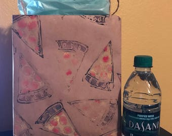 Pizza Stamped Gift Bags