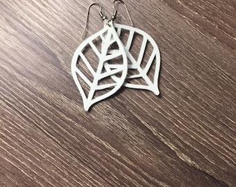 leaf ring hand made - hand made leaf earring