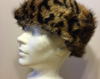 Fur Hat - Animal Print - Genuine Fur - Winter Hat