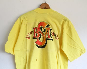 XLARGE Vintage 1970s BSA (Print on Back) Joilet, Illinois Pocket T-Shirt