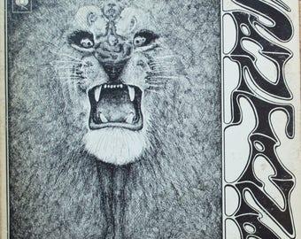 Carlos Santana Original 1969 Self Titled Santana Psychedelic Rock Columbia Records Vintage Vinyl Record Album LP