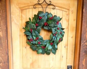 Christmas Wreath-MAGNOLIA Wreath-Farmhouse Wreath-Magnolia Door Wreath-Outdoor Wreath-Waterproof Door Wreaths-Housewarming Wreath-Weddings