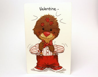 "Vintage 1993 Suzy's Zoo Valentine's Greeting Card ""You make quite an impression!"" - Ollie Marmot - by Suzy Spafford - Printed in U.S.A."