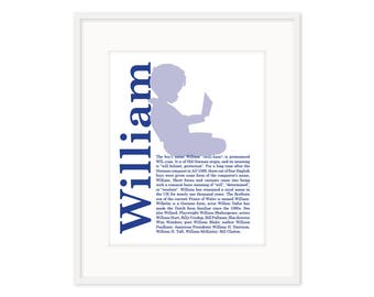 Name Meaning Silhouette - Custom Print