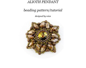 Alioth Pendant - Beading Pattern/Tutorial - PDF file for personal use only