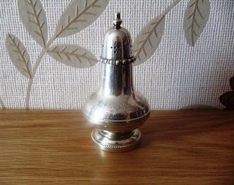 Vintage Silver Plated Salt Shaker.