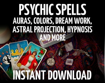 22 Book of Shadows Pages on Psychic Power, Wicca, Witchcraft, BOS Pages, Wiccan Scrapbooking, Witchcraft Book, Wicca Book